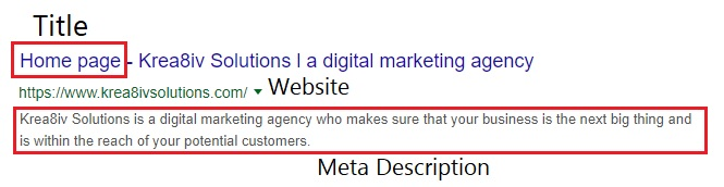 meta descriptions - krea8iv solutions